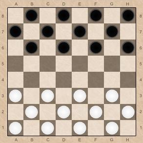 Расстановка шашек